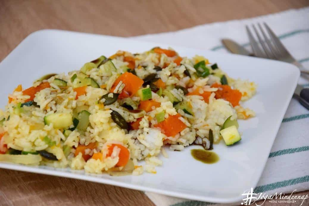 Sütőtökös-cukkinis risotto - Mindennap receptek