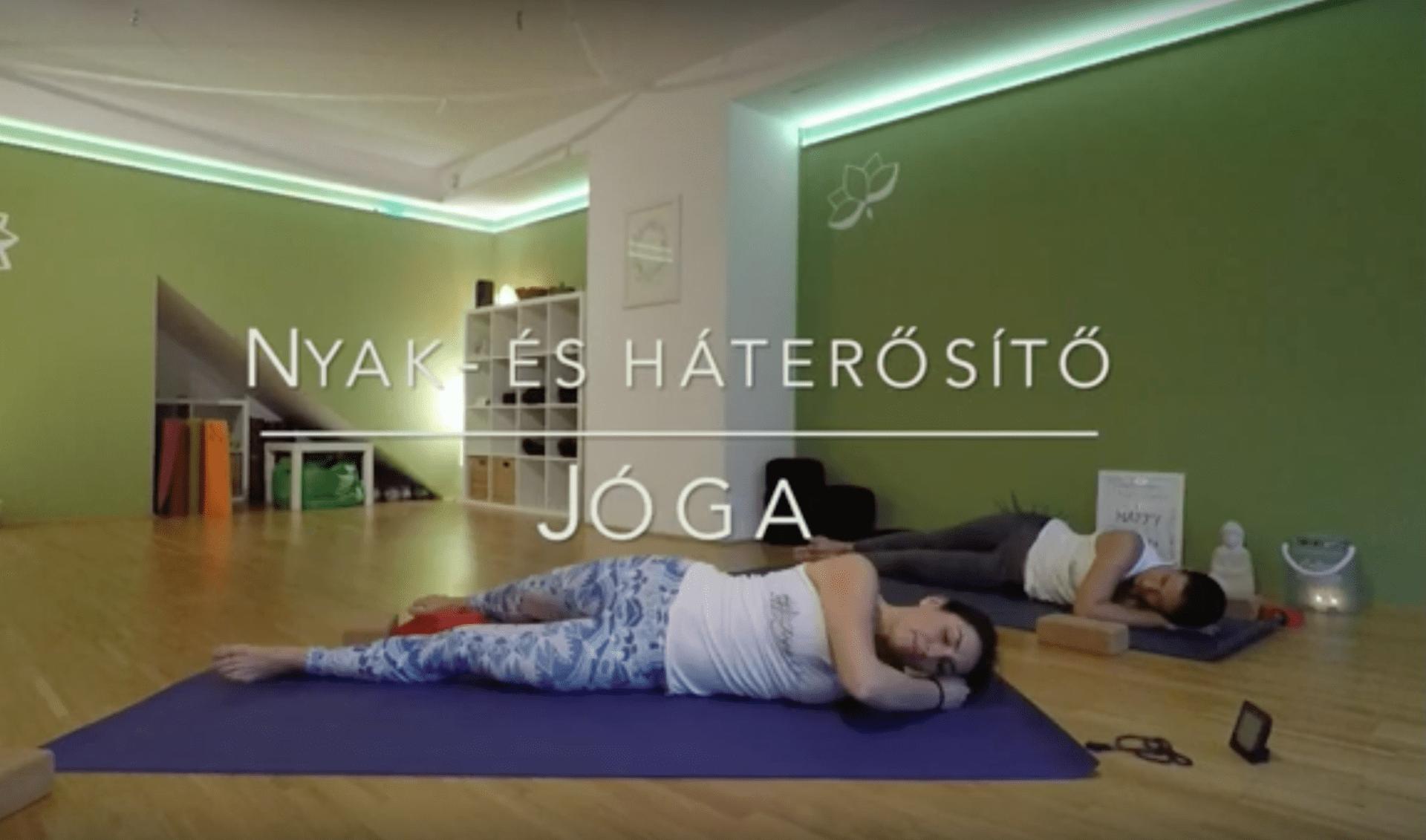 Nyak- és háterősítés, -lazítás - ingyen jógavideo - Jóga Mindennap