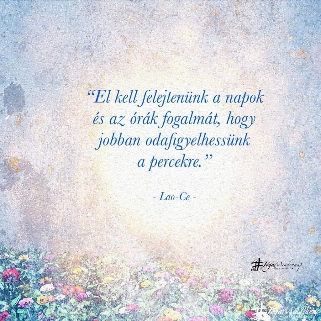 El kell felejtenünk a napok ...fogalmát.. - Lao-Ce idézet - Jóga Mindennap megerősítés motiváció meditáció