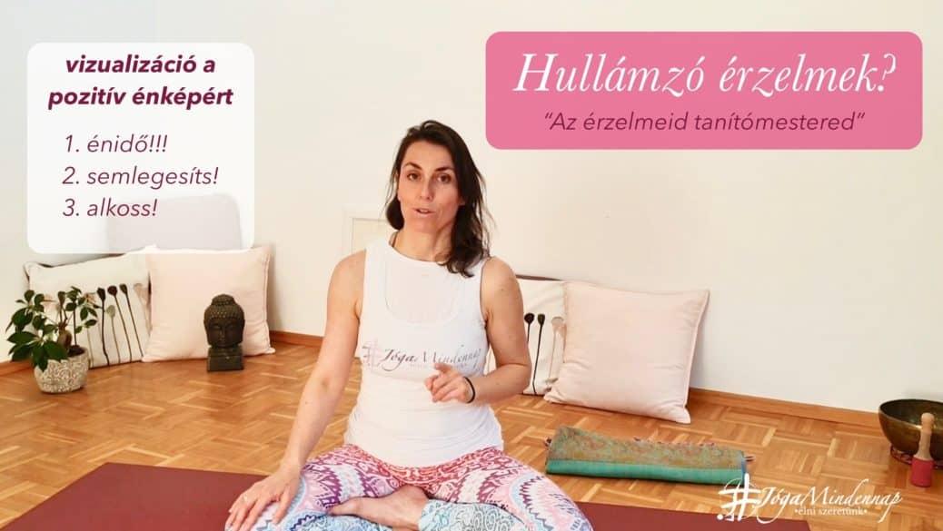 hullámzó érzelmek - tudatosság növelés, jóga, meditáció mindennap, Freshup Ági cover
