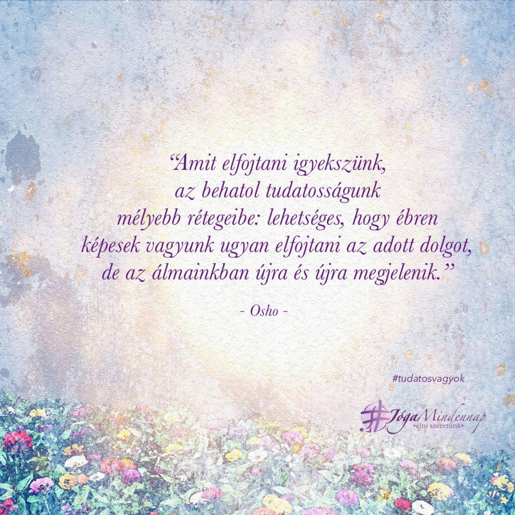 """""""Amit elfojtani igyekszünk... napindító gondolat Osho idézet motiváció meditáció megerősítés Jóga Mindennap Tudatos Vagyok program"""