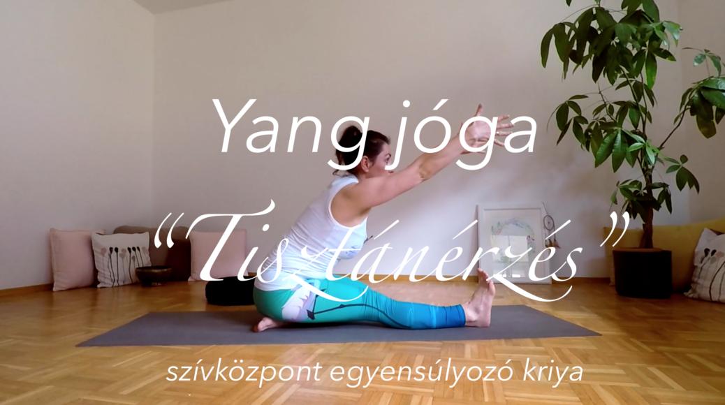 Yang jóga - szívközpont egyensúlyozó kriya - Tisztánérzés női jóga 5
