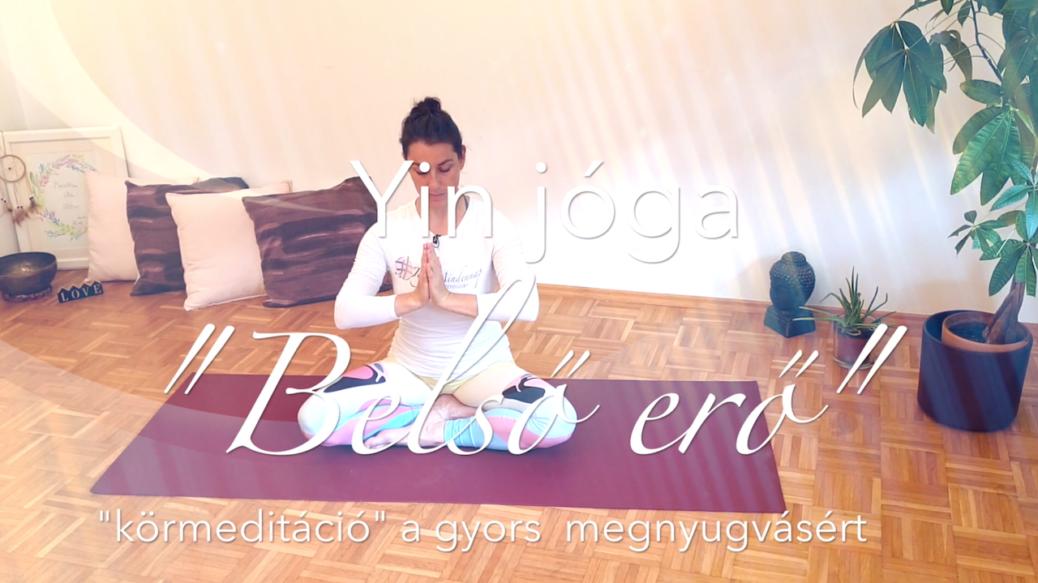Körmeditáció - Yin jóga - Belső erő női jóga 7. cover