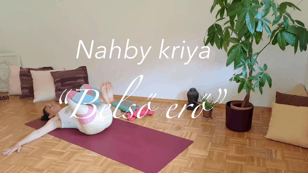 Yang jóga - nahby kriya - Belső erő női jóga 7