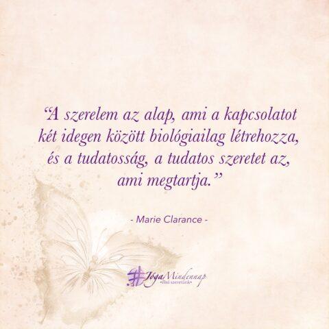 Marie Clarance napindító idézet nőknek - Nő vagyok tudatos női jóga program - Jóga Mindennap