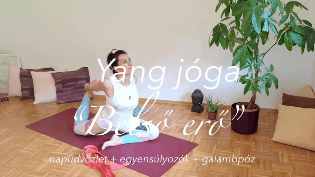 Yang jóga - 4 kör napüdv plus egyensúlyozók plus galamb - belső erő női jóga 7
